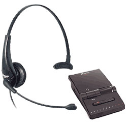 Hello Direct Ultralight OP Single Headset with Pro Amplifier