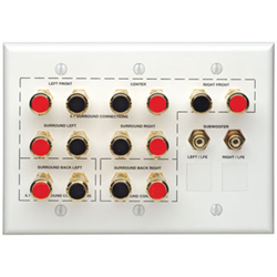 Leviton Audio Home Theater Interface Wall Plate