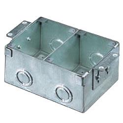 2 Gang Steel Floor Box For Wooden Floors