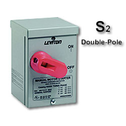 Leviton Double-Pole Front Wired AC Manual Motor Starting Switch