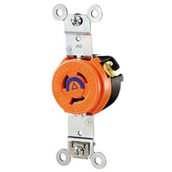Hubbell 2-Pole, 3-Wire Isolated Ground Twist-Lock Receptacle
