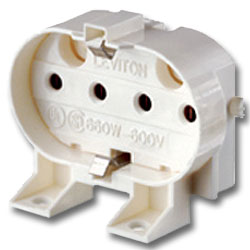 Leviton Twin Tube 2G11 Horizontal Snap-In Mounting, Bottum Push-In Wiring With Internal Shunt Connection
