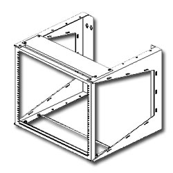 Southwest Data Products Wall Mounted Swing Rack - 36
