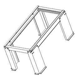 Chatsworth Products Heavy-Duty Wall-Mount Equipment Rack 19