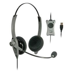 VXI TalkPro UC2 Binaural USB Headset Optimized for Unified Communications