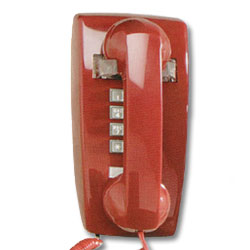 ITT Cortelco 2554 Series Single-Line Wall Phone with Ringer Volume Control