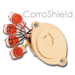 Suttle CorroShield 4-Conductor Modular Jack with Scotchloks & Trap Door