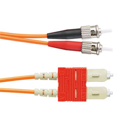 Panduit® NetKey ST to SC, Singlemode, Riser, Duplex Patch Cord