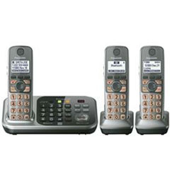 Panasonic DECT 6.0 PLUS Link-to-Cell Bluetooth Cellular Convergence Solution with 3 Handset