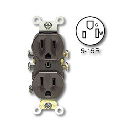 Leviton Duplex Receptacle, Self-Grounding (Package of 10)