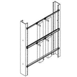 Chatsworth Products Block Mounting Bar, Rack Mounted, Type 23