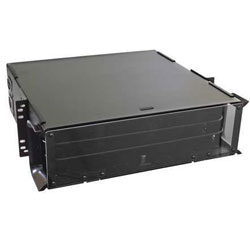 Hubbell OptiChannel Fiber Enclosure, Rack Mount, 3U, 12 FSP Panel Capacity