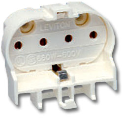 Leviton Twin Tube 2G11 Horizontal Snap-In Mounting, Bottom Push-In Wiring