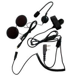 Pryme SPM-800 Series Medium Duty In-Helmet Mic for Kenwood/Relm Radios - 3/4
