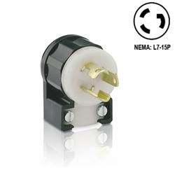Leviton 15Amp, Angle Locking Plug