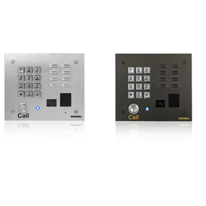 Viking Stainless Steel Handsfree Video Entry Phone with Built-In Keypad and Proximity Card Reader
