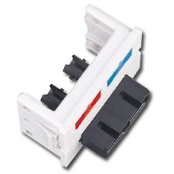 Siemon Flat Fiber Adapter CT Coupler with 1 Duplex ST to Frontside SC Adapter (2 Fibers)