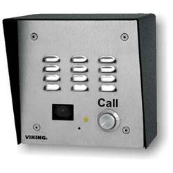 Viking Vandal Resistant Handsfree Doorbox with Built-In Color Video Camera