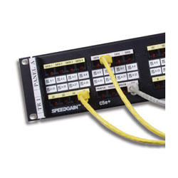 Hubbell XPert Label Holder Kit - 8 Port Patch Panel (Package of 50)