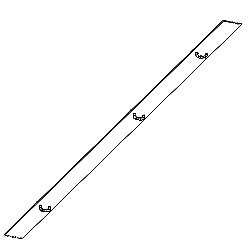 Chatsworth Products Plex Cabling Section Cover - 3.65