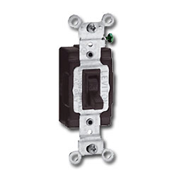 Leviton Single-Pole Toggle Side Wired Quiet Switch