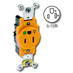 Leviton Back and Side Wired Single Isolated Ground Receptacle