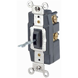 Leviton Toggle Locking Double-Throw Momentary Contact Quiet Switch