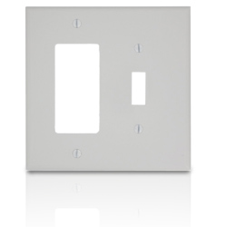 Leviton 2-Gang Midway Size Nylon Combination Wallplate