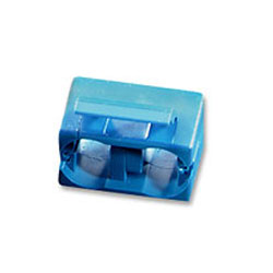 Leviton LC Duplex Clips (Blue, Singlemode), Package of 25