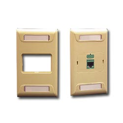 ICC 1-Port Single Gang Uni-Frame Faceplate