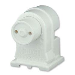 Leviton Medium Bi-Pin Fluorescent Pedestal Lampholder Plunger Style