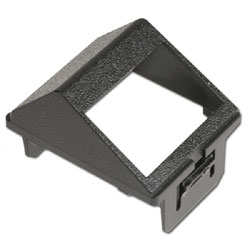 Siemon Horizontal Angled CT Adapter for Two Shielded Z-MAX Hybrid Outlets