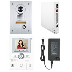 Aiphone JK Series Color Video Access Boxed Set with Picture Memory, Network Adapter, and Flush Mount Vandal Resistant Color Video Door Station