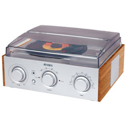 Jensen 3-Speed Stereo Turntable with AM and FM Radio