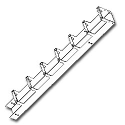 Southwest Data Products Single Vertical Rack Cabling Section