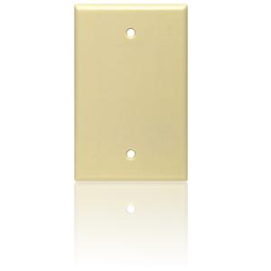 Leviton 1-Gang Blank Box Mount Midway Size Nylon Wallplate