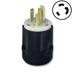 Hubbell 2 Pole, 3 Wire Grounding Twist lock Plug