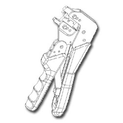 Hubbell OptiChannel Keyed LC Crimp Tool with Dies