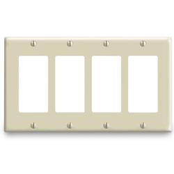 Leviton Urea/Nylon 4 Gang Decora/GFCI Wallplate (Package of 2)