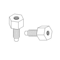 Chatsworth Products 12-24 to 10-32 Threaded Adapters (Package of 2)