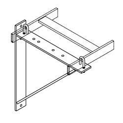 Chatsworth Products Triangular Support Bracket, Aluminum