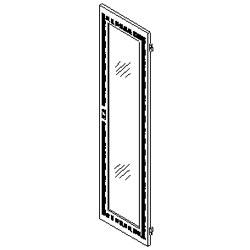 Southwest Data Products Series 2000 Vented Door with Plexiglas Insert 37U