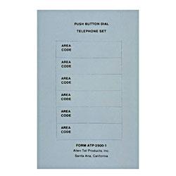 Allen Tel Dial Card
