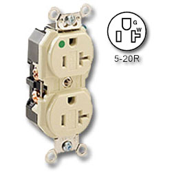 Leviton Back and Side Wired Duplex Tamper-Resistant Receptacle