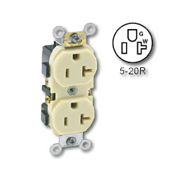Leviton Side Wired Receptacle Industrial Grade 20A/125V