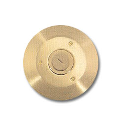Hubbell Round Floor Box Cover with Carpet Flange - Combo 2-1/8
