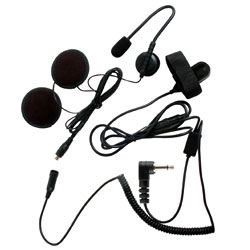 Pryme SPM-800 HIGHWAY Series Medium Duty In-Helmet Microphone for Open Face Helmets for Motorola x63 Radios