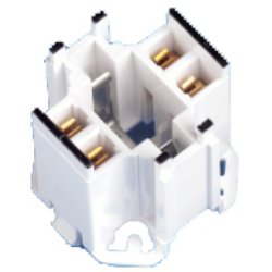 Leviton 10mm Compact GE Lighting Double Biax 10W, 13W Screw Down Fluorescent Lampholder