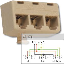 Suttle 2/2/4 Conductor Modular Triplex