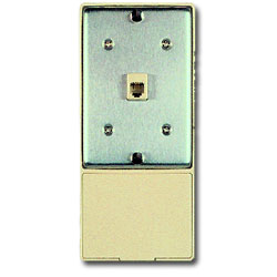 Allen Tel Wall Phone Jack with  Auxiliary Jack